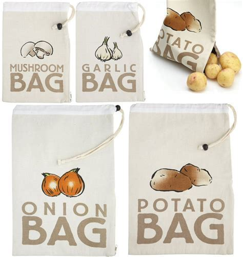 Canvas Vegetable Storage Bags Stay Fresh Bags Potatoes