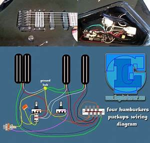 Four Humbuckers Pickup Wiring Diagram  U2013 All Hotrails And