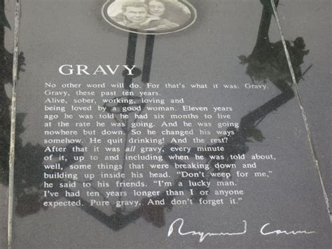 Gravy Boat Poem by Raymond Carver S Headstone Inscribed With His Poem Quot Gravy