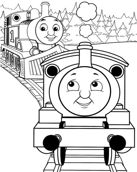 simple thomas  train coloring pages thomas  train