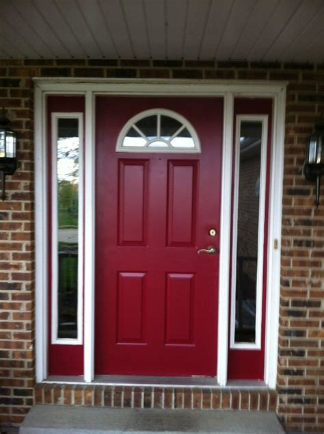 what color door and exterior goes with red brick google