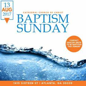 Baptism Announcement Template Church Flyer Templates Postermywall