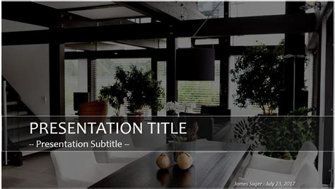 Home Design Templates : Home Interior Design Powerpoint Presentation