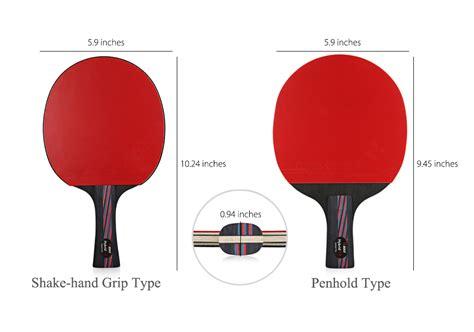 dimension  table tennis racket