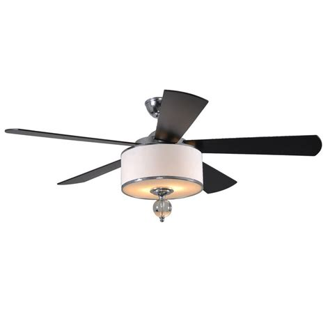exceptional chrome ceiling fan with light 6 allen roth