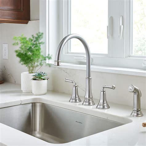 restaurant kitchen sink faucets american standard delancey widespread kitchen faucet