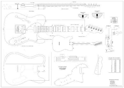 The Pdf Template Fender Stratocaster Standerd Headstock by Full Scale Plans For The Fender Telecaster 1969 Thinline