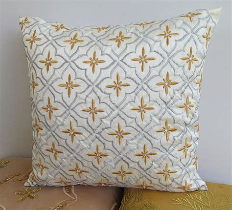 white and gold decorative pillows white decorative pillow cover with gold and silver 4848