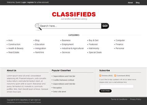 Classifieds Premium Wordpress Theme