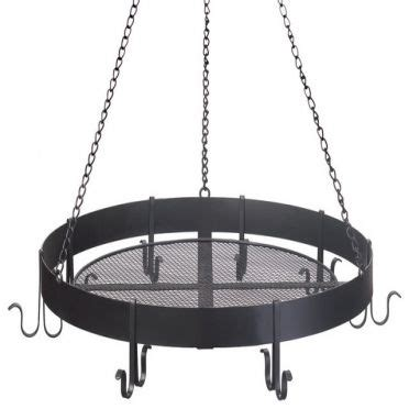 wrought iron pot rack hanging with 8 hooks