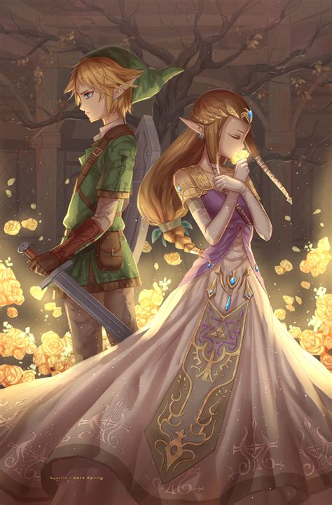 Link And Zelda By Kyuriin On Deviantart