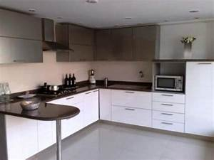 awesome modular kitchen designs black and white photos With what kind of paint to use on kitchen cabinets for pink and brown wall art