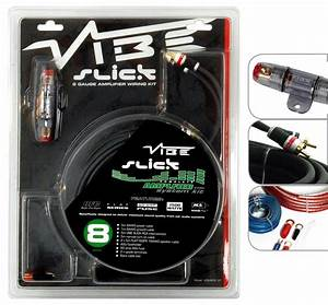 Vibe Slick 8 Gauge 1500w Amp Amplifier Wiring Kit    Sub