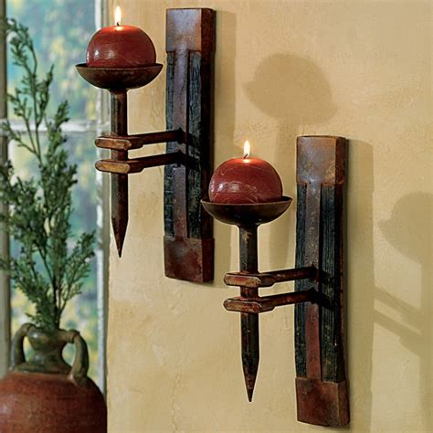 wall candle holders rustic tequila barrel wall candle holder reclaimed