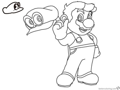 super mario odyssey coloring pages  printable coloring pages