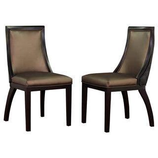 park avenue black croco bronze leather dining chair set
