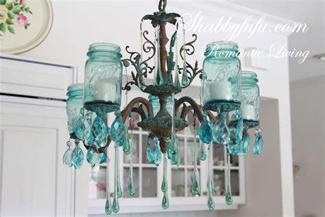 jar chandelier diy the original shabbyfufu blue jar chandelier