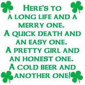 Luck of the Iri... Ireland Drinking Quotes