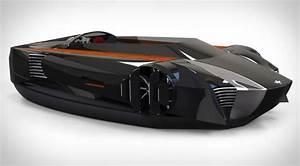 » Concept of a sports car on an air cushion Future technology