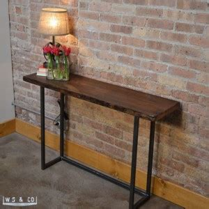 console table  reclaimed wood metal legs aftcra