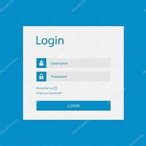 Vector login interface