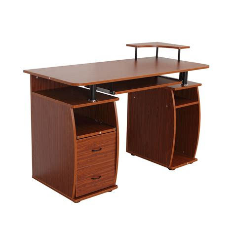 meuble tiroir bureau bureau meuble informatique table d ordinateur pc 2 grands