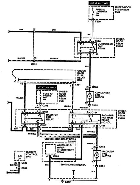 acura legend 1994 wiring diagrams cooling fans carknowledge