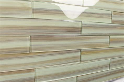 taupe 2x12 painted subway glass tile kitchen for