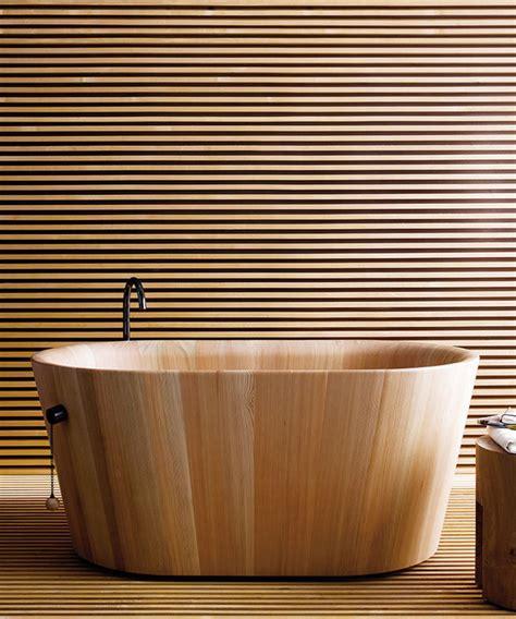 wooden bathtubs  modern interior design  luxury bathrooms