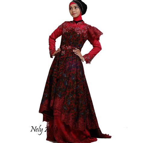 gaun pengantin batik kebaya modern lace payet