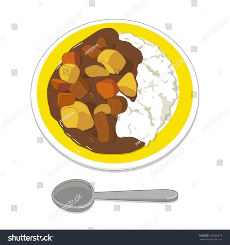 clipart illustrations illustration curry rice stock vector 103295378