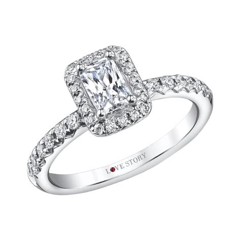 love story diamonds emerald engagement ring by love story