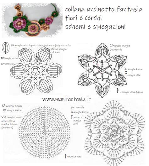 schemi di fiori all uncinetto come fare una collana uncinetto con cristalli e perle