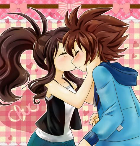 anime couple kiss on cheek agencyshipping kiss on the cheek by chikorita85 on