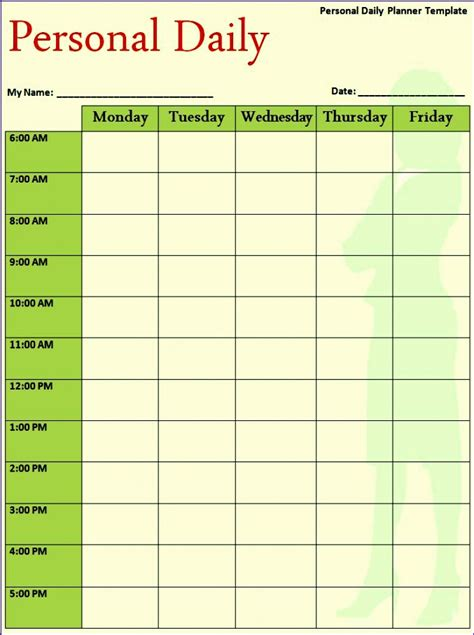hourly schedule excel template excel templates excel