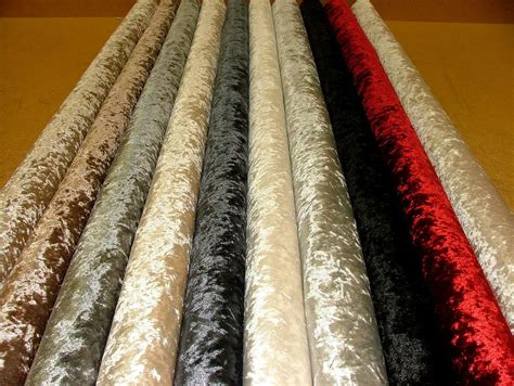 Crushed Velvet Upholstery Fabric by Quot Bling Quot Crushed Velvet Fabric Ideal For Curtain