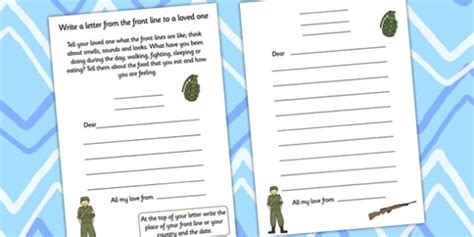 ww letter writing template