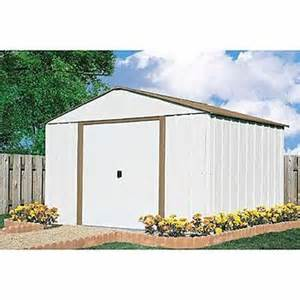 arrow buildings 10 x 10 sr1010 steel shed with floor frame kit bundle lawn garden sheds