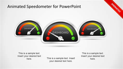 powerpoint dashboard template animated dashboard speedometer template for powerpoint slidemodel