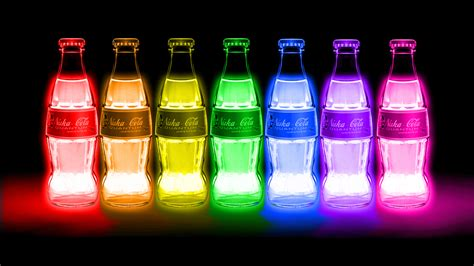 nuka cola colorful bunt bottles neon lights fallout