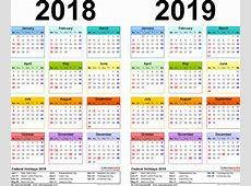 2019 Calendar Excel Weekly Calendar 2019 Calendar Template