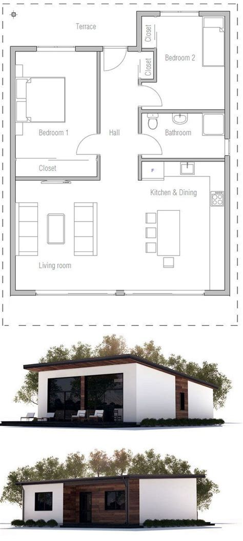 two bedroom houses best 25 2 bedroom house plans ideas that you will like on