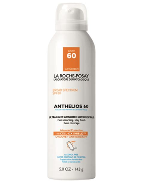 la roche posay anthelios 60 ultra light sunscreen fluid anthelios 60 sunscreen spray la roche posay