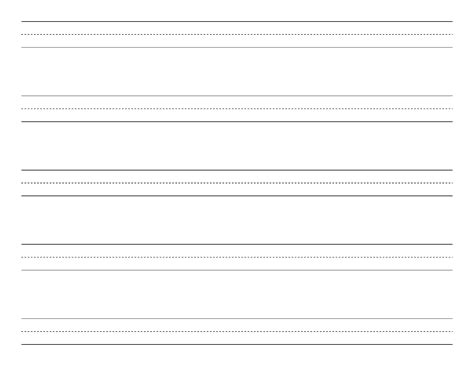 penmanship paper with five lines per page on letter sized
