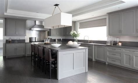 gray kitchen cabinets with hardwood floors 15 cool kitchen designs with gray floors