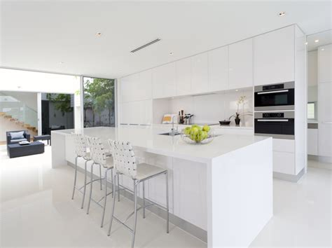modern white kitchen design stylish and fashionable 7791