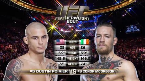 fight conor mcgregor  dustin poirier mmanuts
