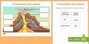 Volcano Cross Section Labeling Activity