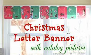 christmas letter banner with catalog pictures i can With christmas letter banner