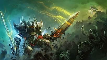 Epic Battle Knight Fantasy Sword Armor Wallpapersafari